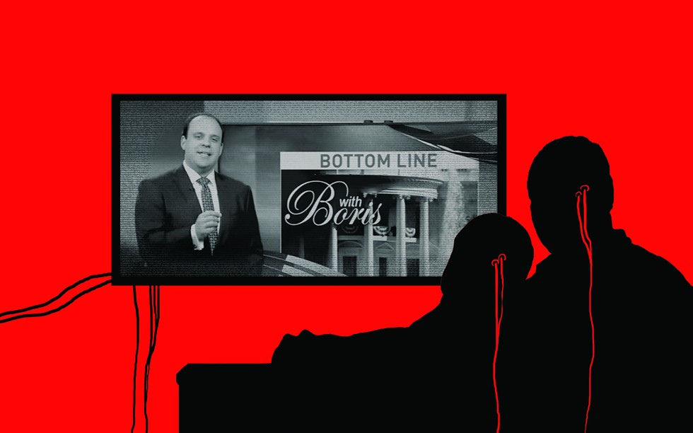 Boris Epshteyn's conservative commentaries are mandated segments on local newscasts of WHAM 13 and other Sinclair stations. - ILLUSTRATION BY RYAN WILLIAMSON