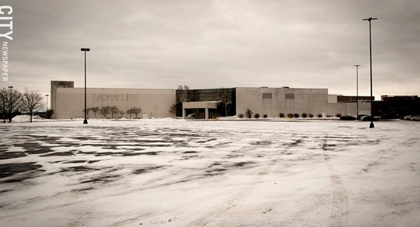 The former Macy's space at Marketplace Mall will be converted into smaller outlet shops. - PHOTO BY RYAN WILLIAMSON