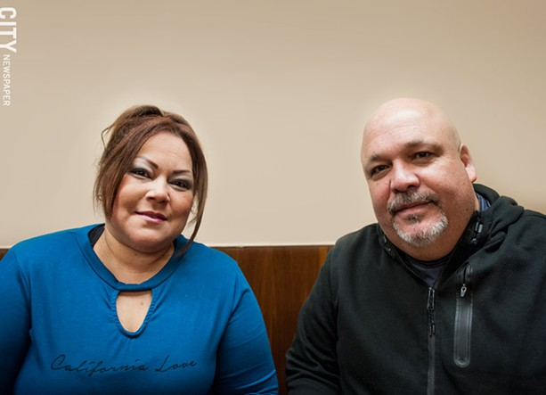 It took about a month for Betsy Bermudez and Julio Velez to find an apartment. They were living in a family member's attic. - PHOTO BY RYAN WILLIAMSON