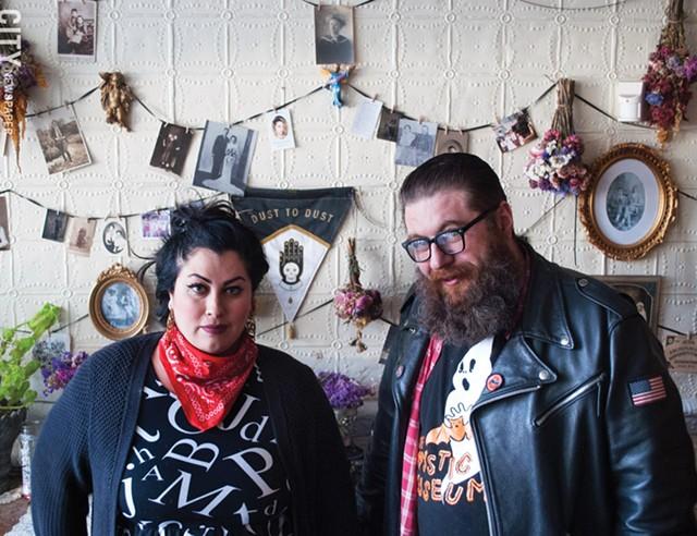 Rachel McKibbens and Jacob Rakovan at The Spirit Room. - PHOTO BY RENÉE HEININGER