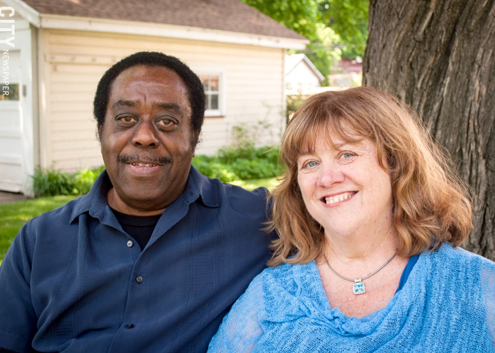 Ben Douglas and Jean Carroll: Both of their families embraced their bi-racial marriage, but, Carroll says, they know they're fortunate. - PHOTO BY RYAN WILLIAMSON
