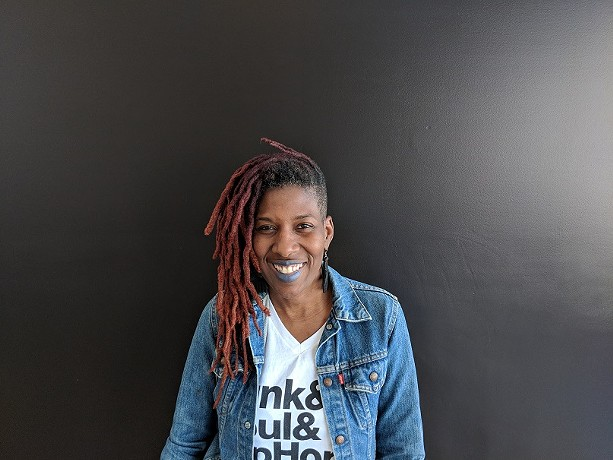 """Reenah Oshun Golden has opened The Avenue Blackbox Theatre, a community venue on Joseph Avenue. """"The patrons of the arts in Rochester don't necessarily reflect all of what Rochester's population is,"""" she says. """"Mostly that's because people get priced out at the door."""" - PHOTO BY KURT INDOVINA"""