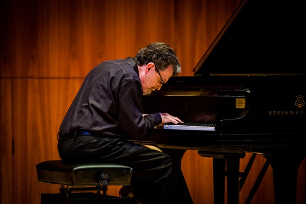 At Hatch Hall, Bill Dobbins played a fascinating program of preludes he wrote between 1991 and 2001. - PHOTO BY JOSH SAUNDERS
