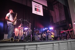 Ghost-Note with MonoNeon played Harro East Ballroom as part of the 2018 Xerox Rochester International Jazz Festival. - PHOTO BY ASHLEIGH DESKINS
