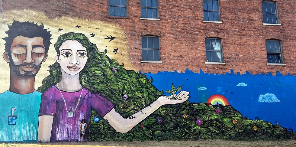 Returning WALL\THERAPY alum Alice Mizrachi's 2017 mural in Buffalo, New York - PHOTO PROVIDED