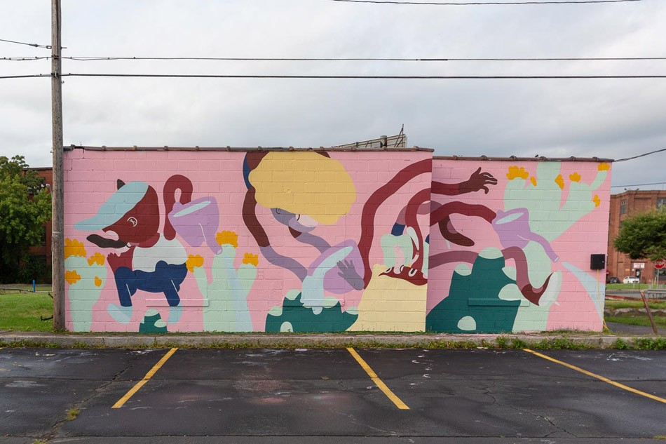 Salut's mural on East Main Street. - PHOTO BY TED WONG