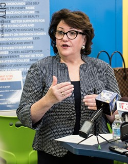 The Rochester school district is dysfunctional New York State Commissioner MaryEllen Elia said at a press conference today. - PHOTO BY JACOB WALSH