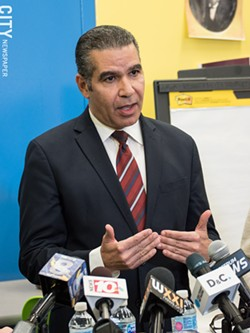 Distinguished Educator Jaime Aquino's report on the state of the Rochester school district described an organization in chaos, partly due to excessive changes in leadership. - PHOTO BY JACOB WALSH