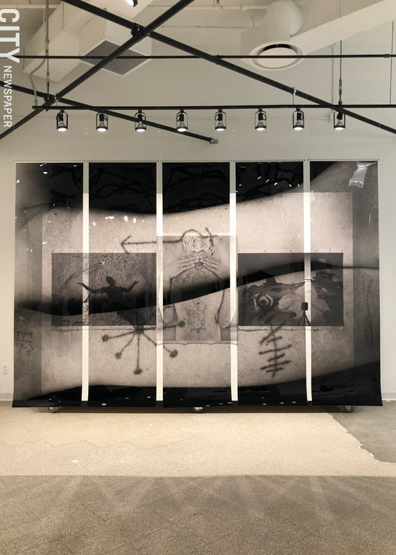 "Willie Osterman's photo installation, ""Emergence."" - PHOTO BY REBECCA RAFFERTY"