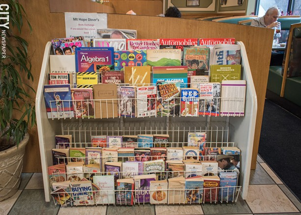 Mt. Hope Diner's Book Exchange. - PHOTO BY RYAN WILLIAMSON