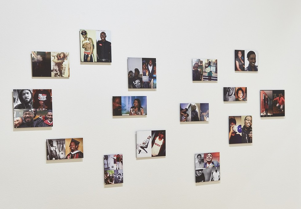 """Installation view of """"#IfTheyGunnedMeDown,"""" at Eastman Museum. Larson Shindelman collected images that POC posted to reveal their different facets and criticize which side of them the media would choose to show if they were killed by police. - PHOTO COURTESY GEORGE EASTMAN MUSEUM"""