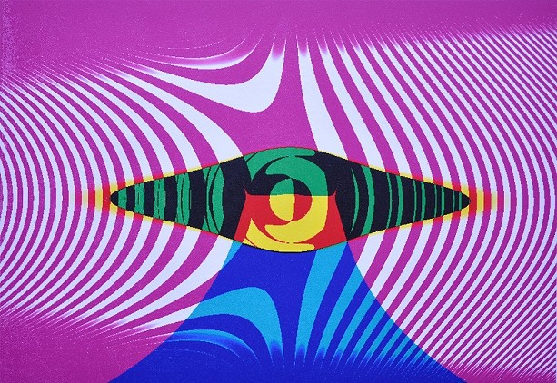 "Alan Singer's monotype ""Modern Dance."" - PHOTO PROVIDED"