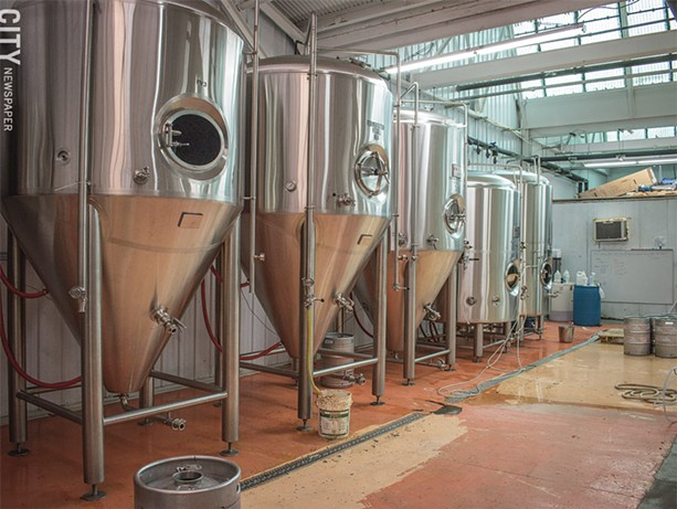 Triphammer Bierwerks has a 15 barrel brewing system capable of producing 6,000 kegs a year. - PHOTO BY JACOB WALSH
