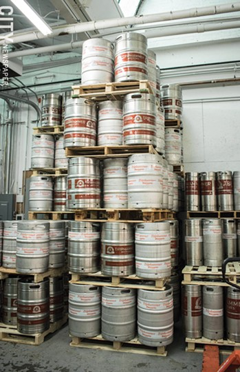 Kegs at Triphammer Bierwerks in the Village of Fairport. - PHOTO BY JACOB WALSH