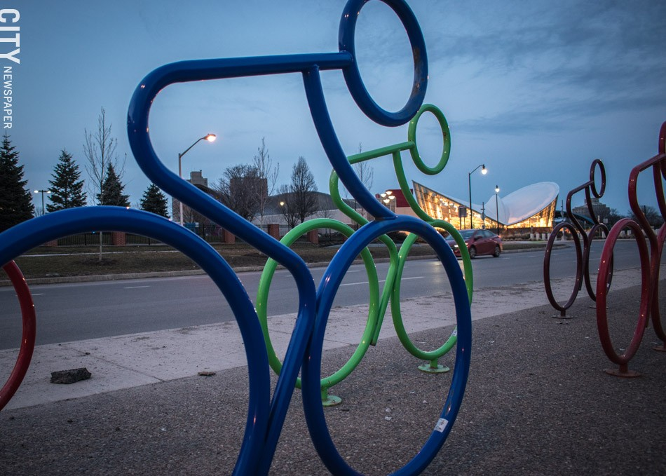 In addition to the push for new housing and commercial uses, downtown development efforts have included streetscape improvements like benches and bike racks. - PHOTO BY RYAN WILLIAMSON