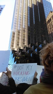 Not My President Protest in New York City