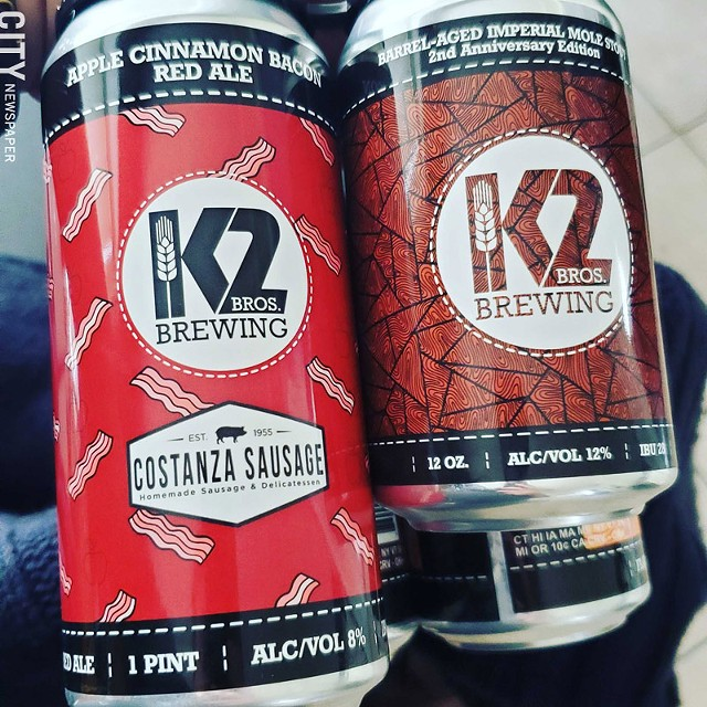 Just a couple of the many offerings from Penfield's prolific beer-makers, K2 Brothers Brewing.
