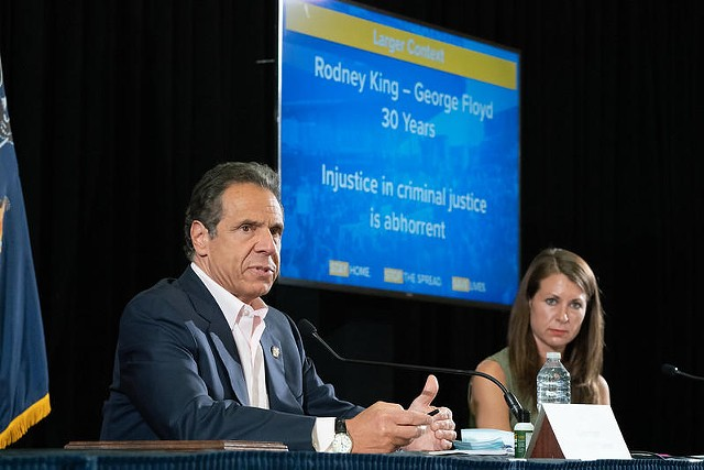 Gov. Andrew Cuomo addressed George Floyd protests around New York state during his daily coronavirus briefing on Saturday, May 30.
