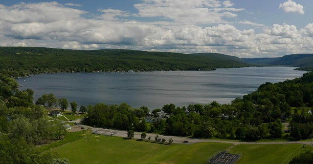 """Still from """"Journeys Through the Finger Lakes"""" featuring Honeoye Lake."""
