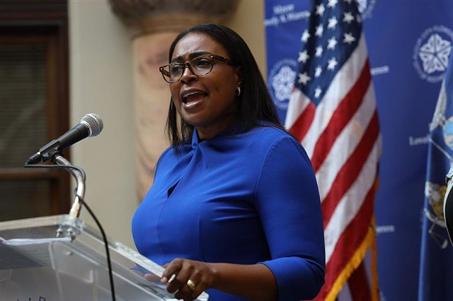 Mayor Lovely Warren told reporters on Thursday, Sept. 3, 2020, that she had suspended the seven officers involved in Daniel Prude's arrest.