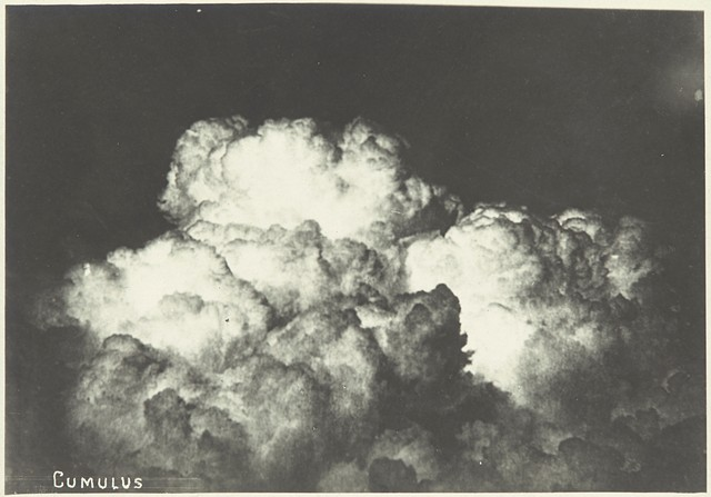 """""""Cumulus,"""" a 1918 gelatin silver print by an unidentified maker, is part of George Eastman Museum's exhibition """"Gathering Clouds: Photographs from the Nineteenth Century and Today."""""""