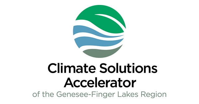 The logo for the Climate Solutions Accelerator of the Genesee-Finger Lakes Region, formerly the Rochester People's Climate Coalition