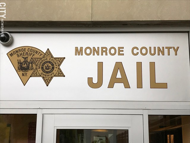 The exterior of the Monroe County Jail