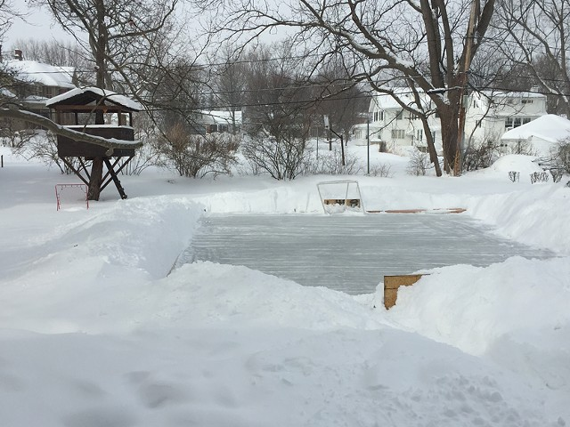 The backyard rink of CITY Editor David Andreatta in Fairport.