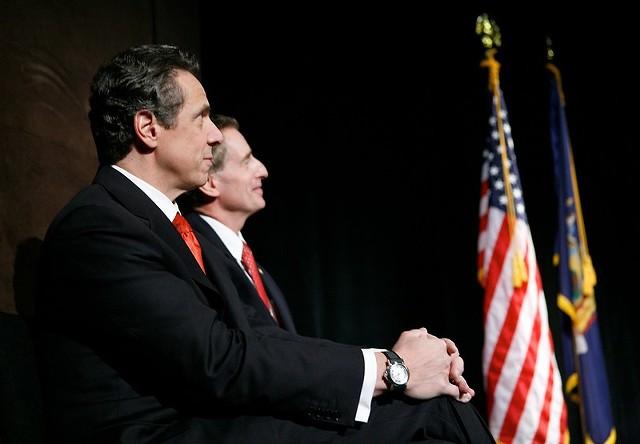 Gov. Andrew Cuomo and former Lt. Gov. Bob Duffy in 2012.