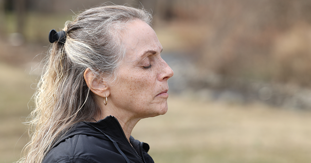 Kathie Gansemer uses mindfulness to help balance the demands of caring for her aging parents. Gansemer uses breathing exercises to incorporate mindfulness into her nature walks.