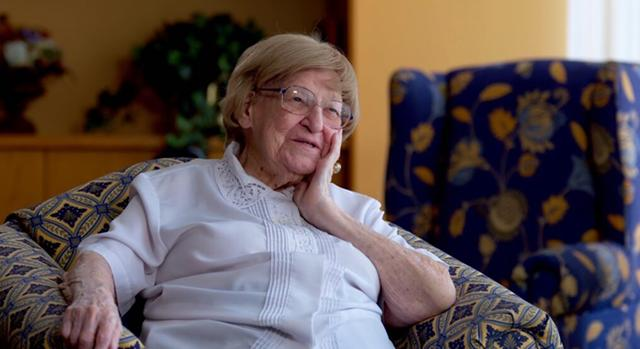The late Ethel Gabriel at the Rochester Presbyterian Home.
