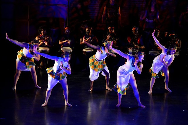 Sankofa African Dance and Drum Ensemble will make its annual appearance at SUNY Brockport on April 21 - 24, 2022.