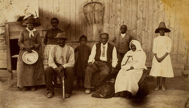"""""""Harriet Tubman at home and her friends. Residents of the Home for the Aged and the Indigent Negroes, Auburn, N.Y., 1887"""" by an unknown photographer. This image is part of a digital exhibition Eastman Museum created in partnership with Google Cultural Institute."""