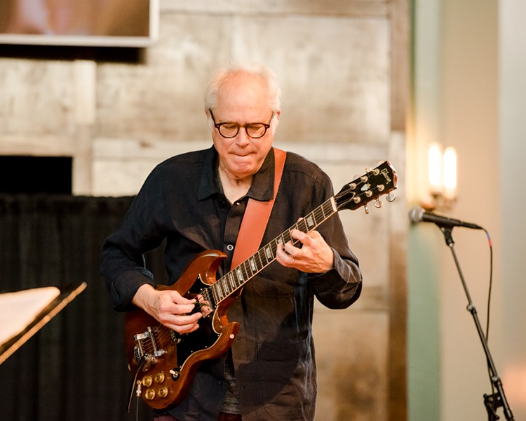Guitarist Bill Frisell and his band gave two memorable performances on Saturday, June 22 at Temple Building Theater. - PHOTO BY JOSH SAUNDERS