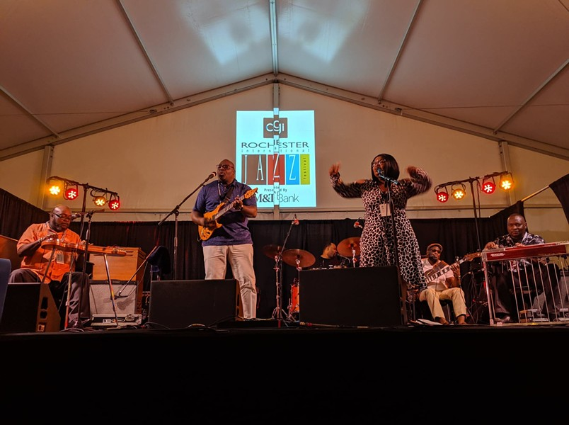 The Campbell Brothers brought church to the Squeezers Stage at the 2019 CGI Rochester International Jazz Festival on Sunday, June 23. - PHOTO BY DANIEL J. KUSHNER