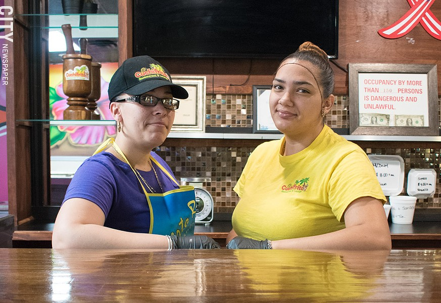 Milagros and Tiffany working the front counter. - PHOTO BY JACOB WALSH