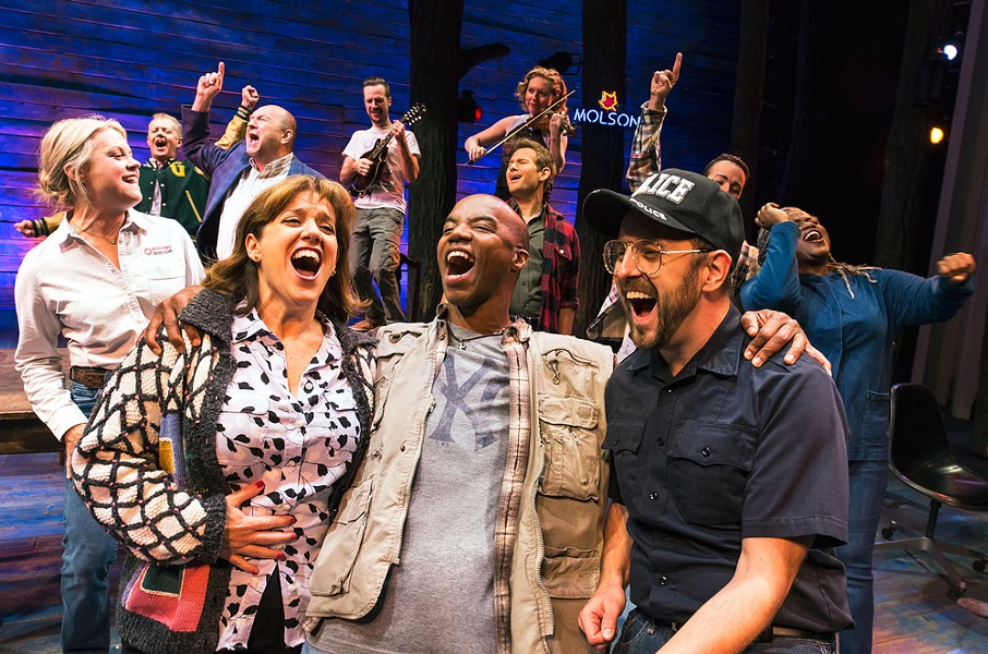 """Rochester Broadway Theatre League will bring """"Come From Away"""" to Rochester November 19-24. - PHOTO BY MATTHEW MURPHY"""
