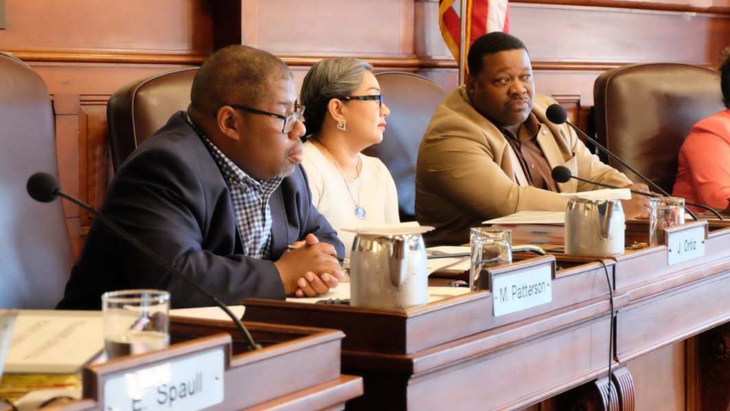 City Council members (from left) Mike Patterson, Jackie Ortiz, and Willie Lightfoot during the June vote authorizing a referendum on the RCSD. Court rulings blocked the referendum. - FILE PHOTO