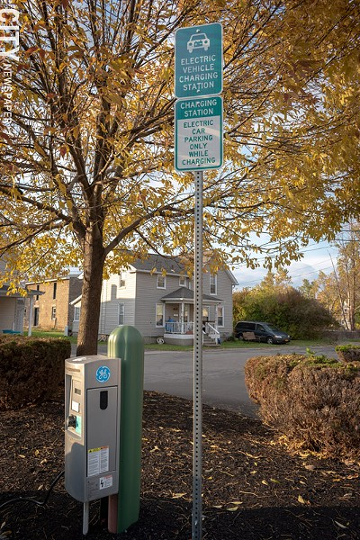 Fairport will install additional public electric vehicle chargers in the village as part of a joint program with the New York Power Authority. The program's goal, in simple terms, is to improve electric vehicle infrastructure. - PHOTO BY RENÉE HEININGER