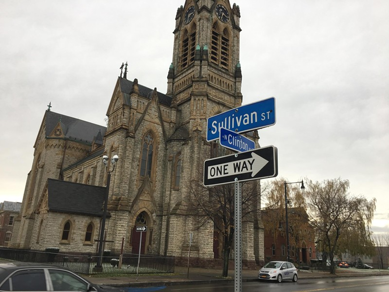 St. Michael's Church on North Clinton Avenue. - PHOTO BY JAMES BROWN, WXXI NEWS