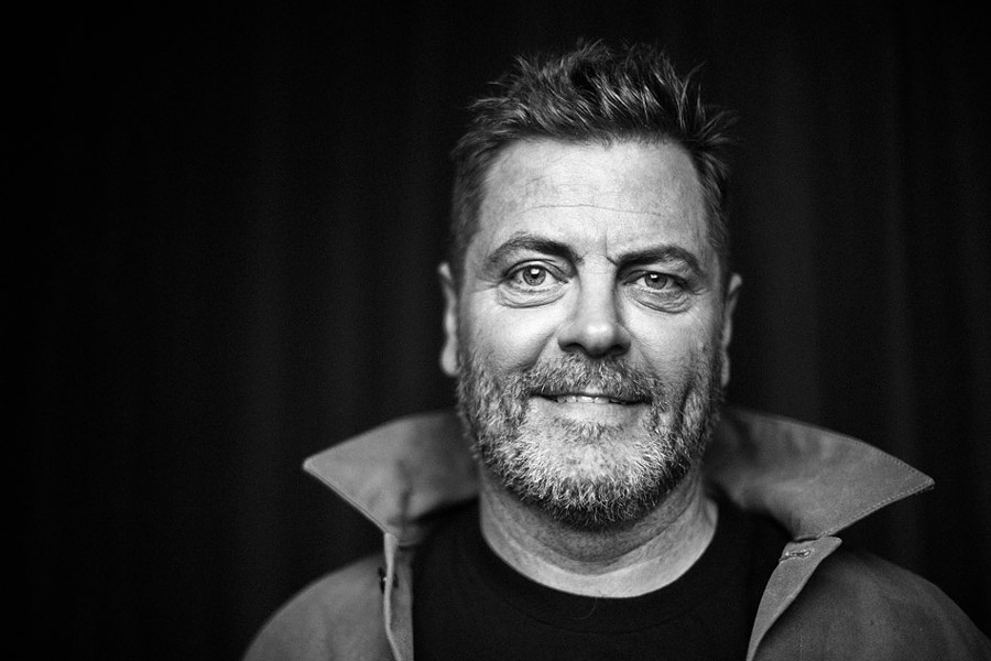 """""""We're a bunch of real dipshits, and let's laugh at that,"""" actor-comedian Nick Offerman says. """"But while we're laughing, let's also recognize that we're not done getting better, and we never will be."""" - PHOTO BY MATT WINKELMEYER"""
