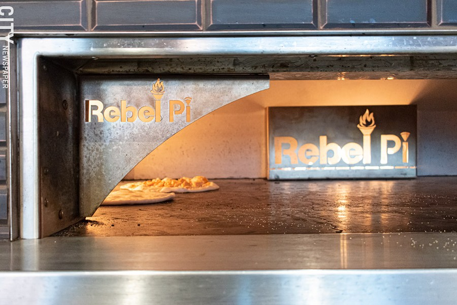 Rebel Pi's brick oven. - PHOTO BY JACOB WALSH