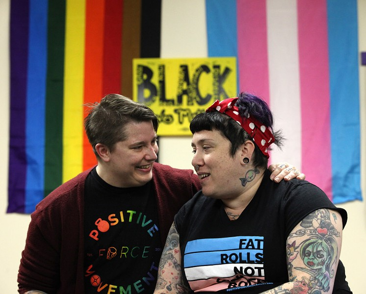 Lore McSpadden (left) and Christine Walker (right) are the co-founders and co-owners of Positive Force Movement, which they built with community support after finding that traditional gyms – even those that claimed to be inclusive – were not as welcoming as they hoped. - PHOTO BY MAX SCHULTE