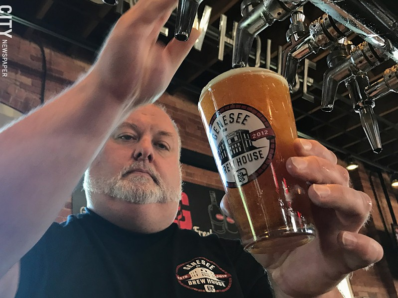 Dean Jones, brewmaster at Genesee's Pilot Brewery - FILE PHOTO