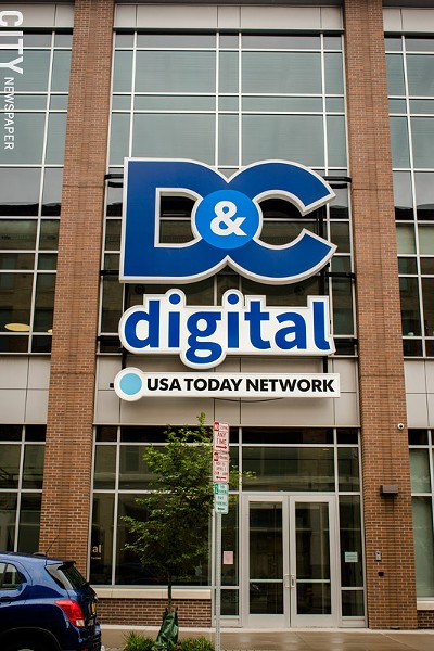 Home of the Democrat and Chronicle on Main Street in Rochester. - FILE PHOTO