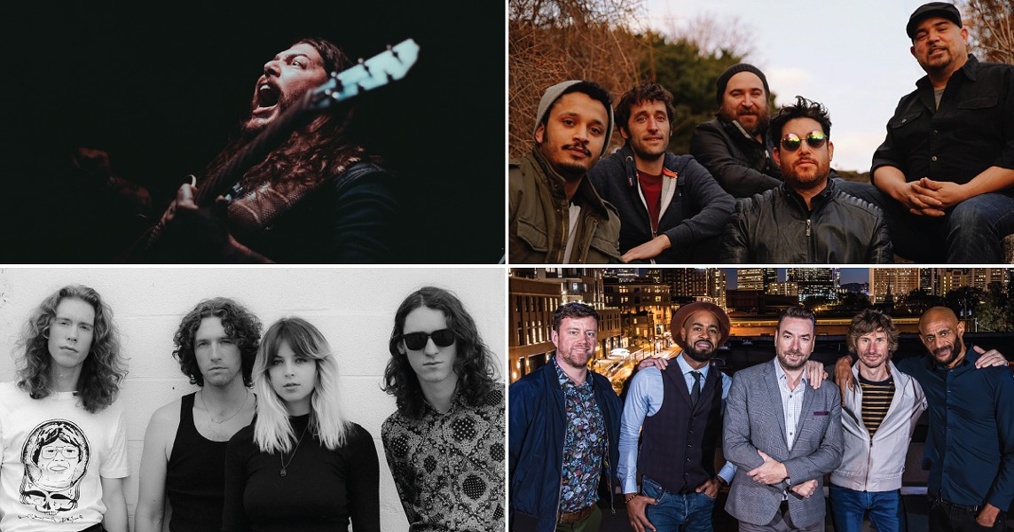 The 2020 Lilac Festival music lineup includes (clockwise from top left) Amigo the Devil on May 8, Giant Panda Guerilla Dub Squad on May 11, The New Mastersounds on May 13, and Mikaela Davis and Southern Star on May 17. - PHOTOS PROVIDED