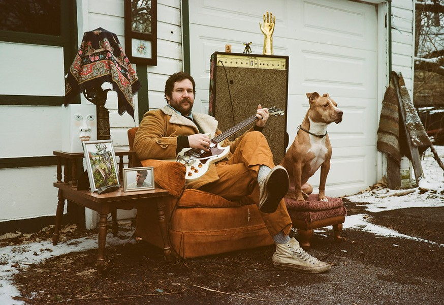 """""""And my dog will do no wrong till his dying breath,"""" Sillick sings of his pitbull Georgie on """"The Pits."""" - PHOTO BY TEAGAN WEST"""