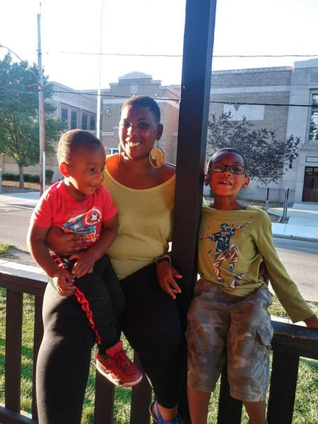 Tacara Windom and her two children. - PHOTO PROVIDED
