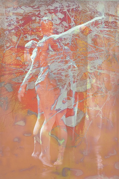 """A large, layered inkjet print by James Welling, part of George Eastman Museum's """"James Welling: Choreograph,"""" on view in the Project Gallery through January 2. - PHOTO PROVIDED"""