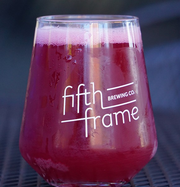 One of Fifth Frame's fruited sours Rural Minutes. - PHOTO BY GINO FANELLI